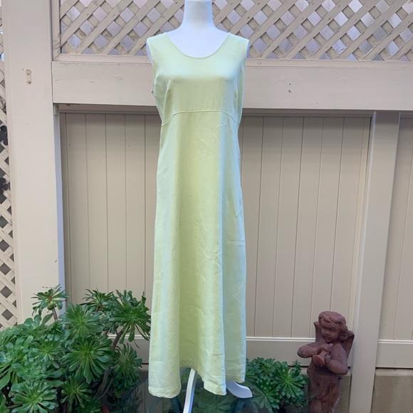 Cut Loose Dresses Pale Greenyellow Cutloose Linen Dress Size S Poshmark